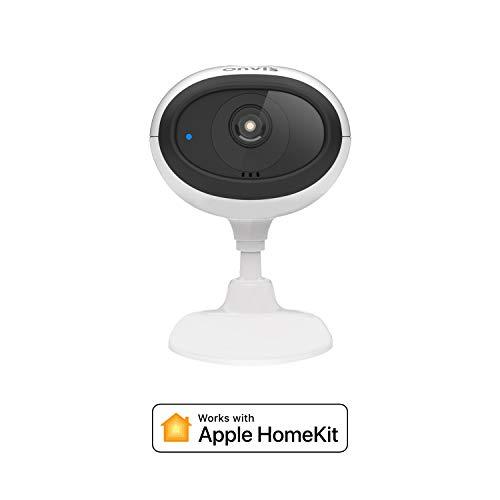 ONVIS C3 HomeKit Sichere Videokamera, iCloud-Aufzeichnung, Keine Monatlichen Gebühren, HD 1080P, HDR, 5GHz & 2,4GHz Wi-Fi Mehrere Live-Streams Nachtsicht Zwei-Wege-Gespräch MicroSD Lokale Aufzeichnung