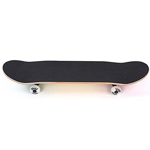 Eosnow Kinder Double Tilt Skateboard, Maple Board, Hoch Belastbares PU Big Wheel Skateboard, mit Leuchtenden Rädern, für Kinder Anfänger