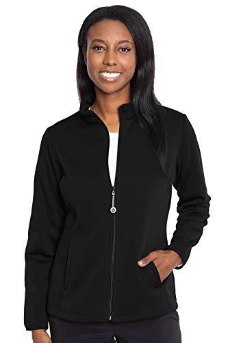 Med Couture Performance Fleece Jacket for Women, Black, Large
