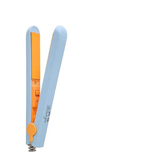 Lisseur Mini Pull Cheveux Raides Clip Frange Double-utilisation Attelle Fer à Repasser Fer À Friser Bâton Fan Femme Petit-Bleu