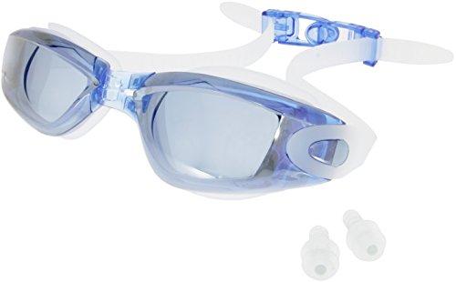 my-Spexx Basics Schwimmbrille | Blau | Verspiegelte Schwimmbrille - Antibeschlags-Schutz - Verstellbares Kopfband - 100% UV-Schutz