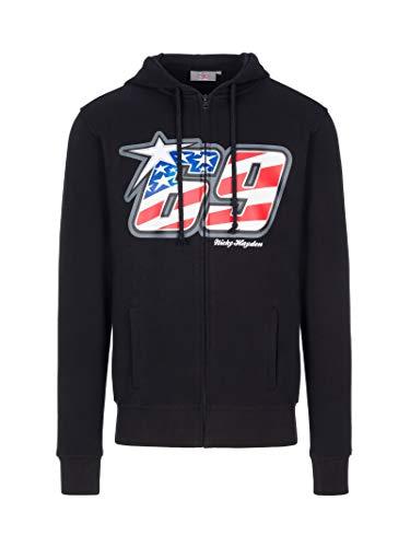 NICKY HAYDEN Herren-Sweatshirt in Schwarz, Schwarz XXXL