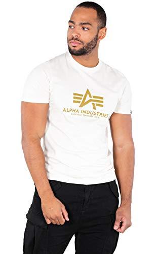 ALPHA INDUSTRIES Herren Basic T-Shirt, Weiß, S