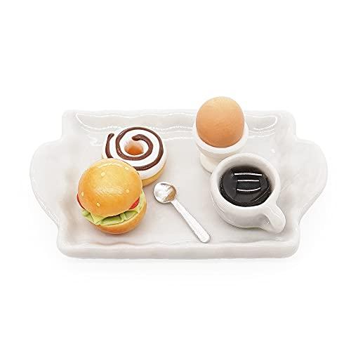 Odoria 1/12 Miniatur Frühstück Hotdog Kaffee Puppenhaus Küche Zubehör