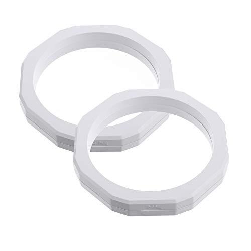 BESPORTBLE 2 Stück Schmuck Schwimmender Rahmen Transparente 3D Schwimmende Rahmen Displayhalter für Münzen Medaillons Schmuck