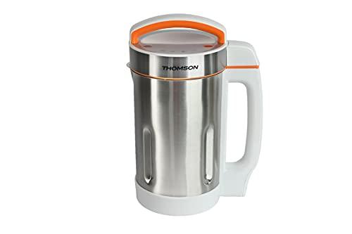 THOMSON Blender chauffant, mixeur en acier inoxydable, mixeur automatique avec écran LED, 4 programmes pour soupes, smoothies et jus, puissance de chauffage 800 W, volume 1,6 l.