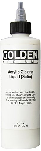 Golden Acryl Med 8 Oz Glaze Liquid Satin