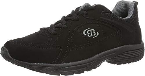 Brütting Hiker, Chaussures de Marche Nordique Mixte, Noir (Schwarz/Grau Schwarz/Grau), 39 EU