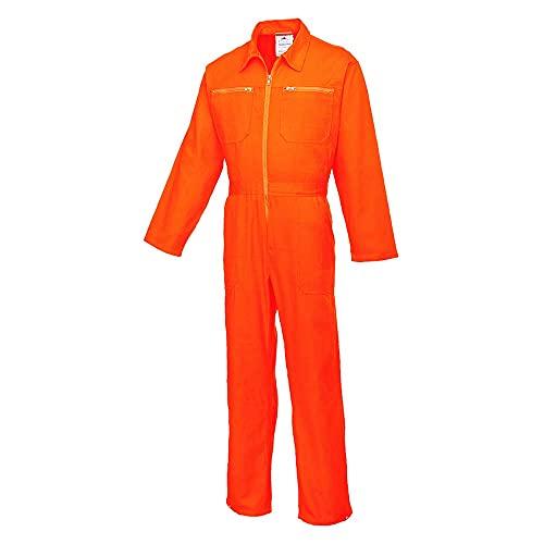 Portwest C811ORRXL Traje de Protection, Cotton Boiler, XL, Naranja (Orange)