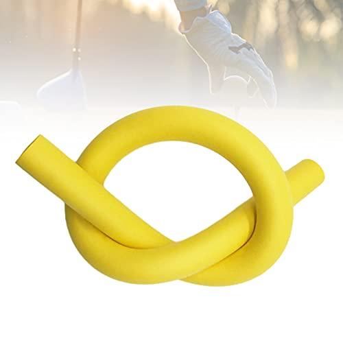 HIMABeauty Portable Golf Tempo Grip, Warm Up Golf Swing Training Aid, Corrección De Ayuda De Entrenamiento De Golf para Fortalecer La Estabilidad, Aumentar La Velocidad,Amarillo
