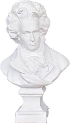 Decoracin del hogar Mozart Beethoven Estatuas Esculturas Resina Artesanas Clsico Occidental Europa Estilo Adornos Decoracin del hogar Accesorios R466,20X12.5X35Cm