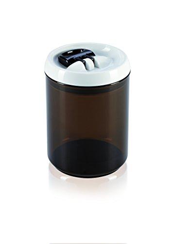 Leifheit FreshundEasy Kaffee Vorratsbehälter, 1, 4 L, rund, luft- und wasserdichte Vorratsdose mit patentierter Einhand-Bedienung, Frischhaltedose, stapelbare Aufbewahrungsboxen, Kaffeebohnen