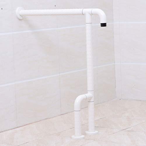 XOM Edelstahl-Handlauf Barrierefreie Ältere Geländer Badezimmer Ältere Sicherheit Haltegriff for Behinderte Toilette Anti-Rutsch-Griff (Color : White)
