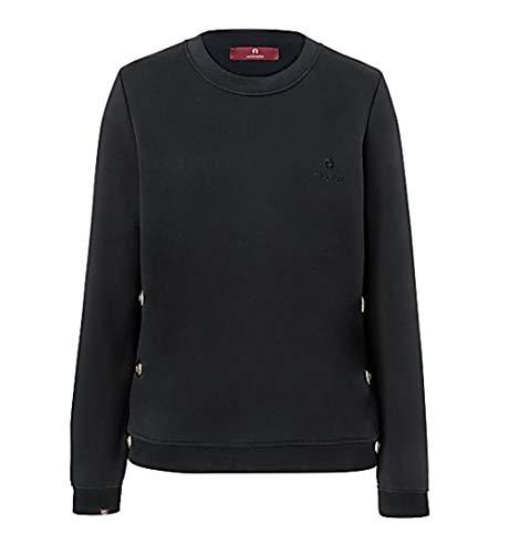 Aigner Damen Sweatshirt, Schwarz, 252013-L
