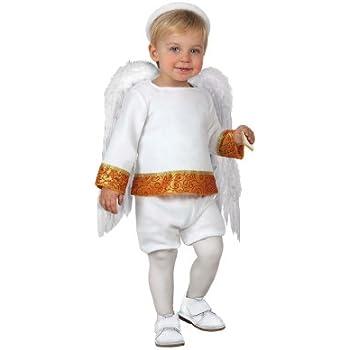 Atosa-17262 Disfraz de Angel Niño Bebé-Tal, color blanco, 0 a 6 ...