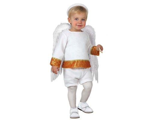 Atosa-17262 Disfraz de Angel Niño Bebé-Tal, color blanco, 0 a 6 meses (17262)