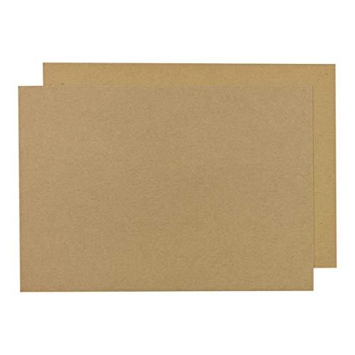 SRA3 Kraftkarton 225 g/m², 32 x 45 cm, unbedruckt, braun, Bastelkarton, festes Kraftpapier zum Basteln für Karten, Scrapbooking - 25 Blatt/Pack