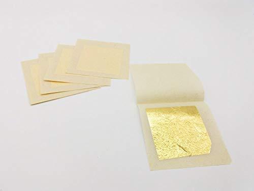 50 hojas de oro de 24 quilates sobre base