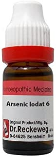 Dr. Reckeweg Arsenic Iodatum 6 CH (11ml)- Pack Of 1 Bottle & (Free St. George's ASMA MIX - An Ideal Remedy for Breathing D...