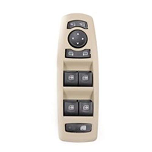 Interruptor de Control de Ventana 2 colores Nueva 254000006R en forma for el Renault Fluence 2008-2016 ventana de coche Espejo Interruptor principal 7700817337 25400000 809610006R ( Color : Beige )