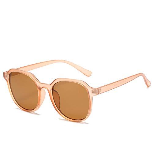 Gosunfly Gafas de sol cuadradas para hombres y mujeres, gafas de sol de sombra de color beige jalea, gafas versátiles, montura negra, película gris y negra