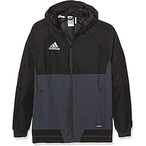 adidas Jungen Tiro 17 Präsentationsjacke, schwarz (Black/SCARLET/White), 128