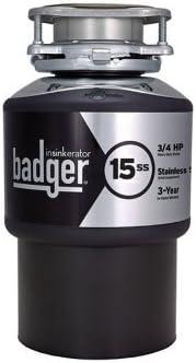 Badger Indefinitely Insinkerator 15ss Free Shipping New disposal Garbage