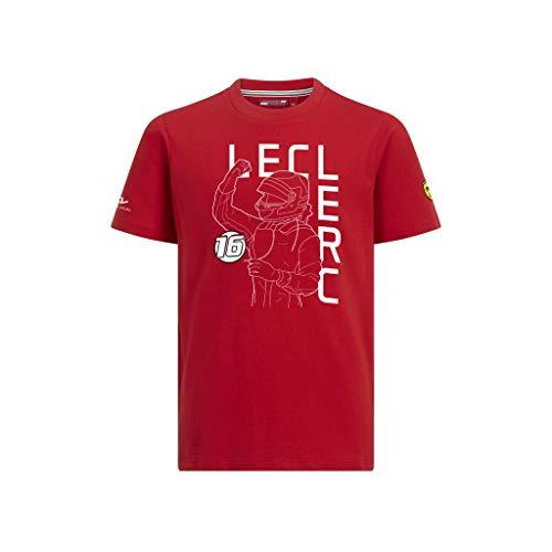 T-shirt de marque B.V. Scuderia Ferrari F1 Charles Leclerc pour enfant Rouge, Rouge, 7-8 years