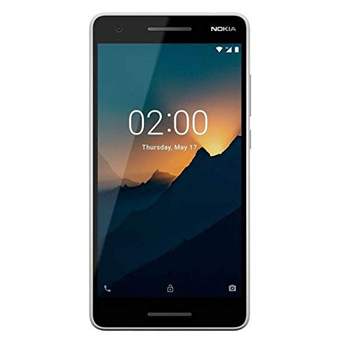 """Nokia 2.1 - Android 9.0 Pie (Go Edition) - 8 GB - Single SIM Unlocked Smartphone (AT&T/T-Mobile/MetroPCS/Mint) - 5.5"""" Screen - Grey/Silver - International"""