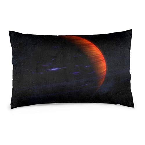 XIEXING Pillow Case Orange-Planet Printed Pillow Cases Soft Chair Seat Bedding Pillowcase Coffee Shop Home Decor 20'' X30