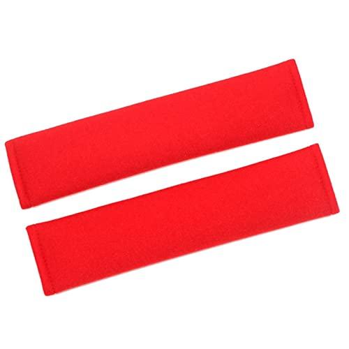 Qikafan Cubiertas de Cinturones de Seguridad de 2 Pares para Adultos, Cubiertas de cinturón de Seguridad para niños, Accesorios para Mujeres Lindos para Mujer Interior (Color : Red)