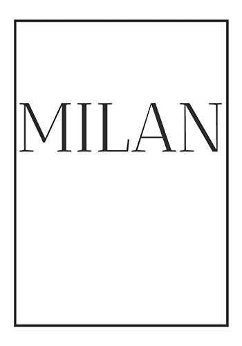 Milan: A decorative book for coffee tables, end tables, bookshelves and interior design styling | Stack city books to add decor to any room. ... for interior design savvy people (CITIES)