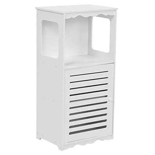 Aynefy - Mueble bajo el lavabo, cuarto de baño, armario esquinero de almacenamiento, armario con persiana de madera y plástico