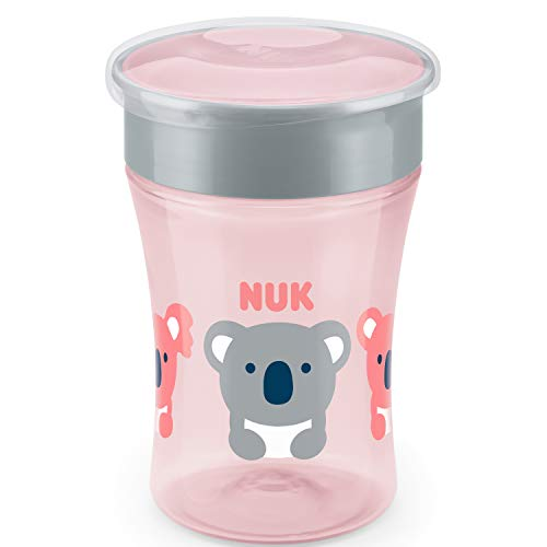 NUK Magic - Taza antiderrame (230 ml), color rosa