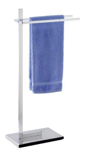 WENKO Toallero de pie Quadro - perchero, Acero, 41 x 85.5 x 20 cm, Cromo