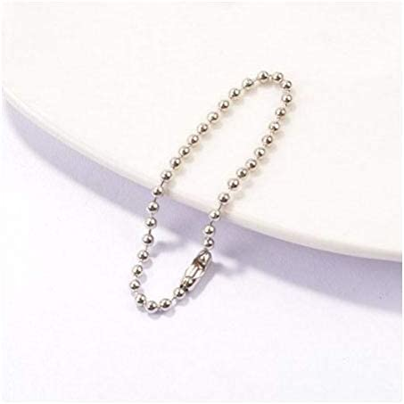 10 pcs San Recommended Diego Mall Short Ball Chains 2.4mm Steel Keychain Tag Plated Nickel