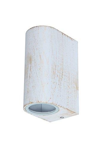 Chile buitenwandlamp lichtladen klassiek metaal/glas wit/goud buitenlamp wandlamp GU10 35W