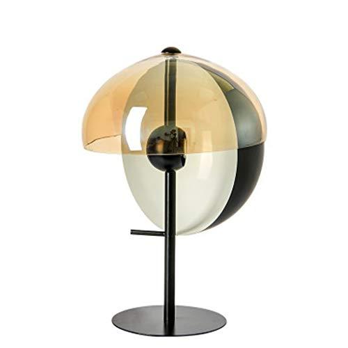 Tafellamp lampenkap van glas halfrond design metalen laklamp lamplichaam van mondgeblazen glas E27 leeslamp decoratie slaapkamer tafellamp