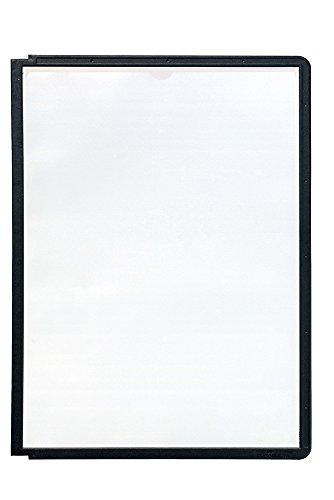 Durable 560601 Sichttafel Sherpa Panel A4, PP 5er Packung schwarz