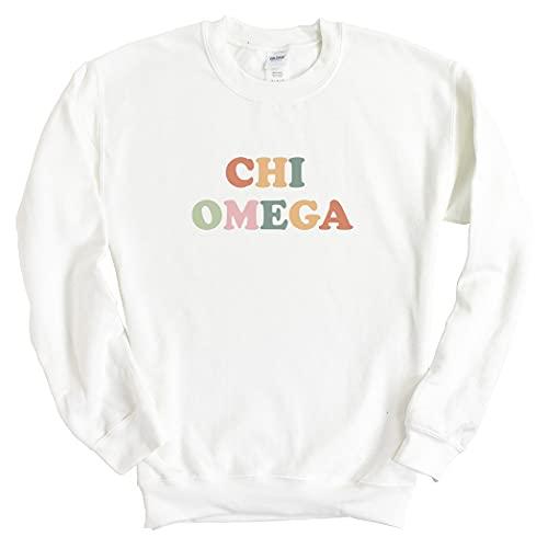Chi O Chi Omega Bright and Colorful Sorority Crewneck Sweatshirt