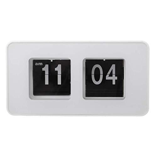 SimpleLife Retro Auto Flip Clock Number Classic Reloj de Pared Moderno y Elegante Escritorio