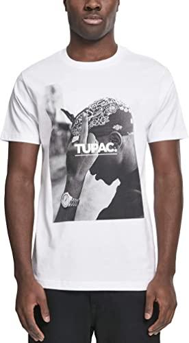 Mister Tee Herren T Shirt Kurzarm 2Pac F*ck The World, White, XXL, MT315-00220-0060