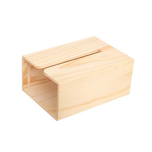 WLP-WF Cubierta de Caja de Pañuelos Cubierta de Caja de Pañuelos de Madera Rectángulo Soporte de Pañuelos Cubierta de Caja de Pañuelos Estándar Dispensador de Toallitas Estuche para Toallitas Húmedas