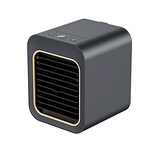 Condizionatore d'Aria Portatile, Ventilatore 3 velocità,USB Umidificatore per Casa E Ufficio,Nero
