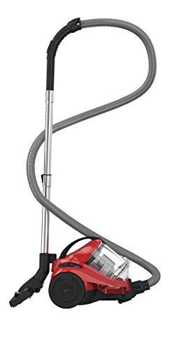Dirt Devil DD2822-1 Aspiradora sin bolsa, ciclónico, 1000 W, 2.7 litros, 82 Decibelios, Rojo y negro