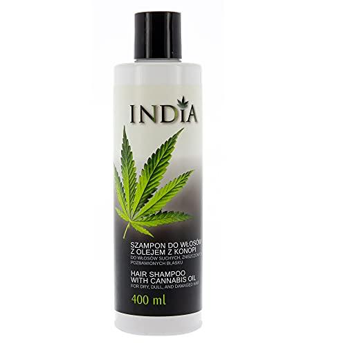 INDIA Shampoo per capelli con Olio alla Canapa 400ml