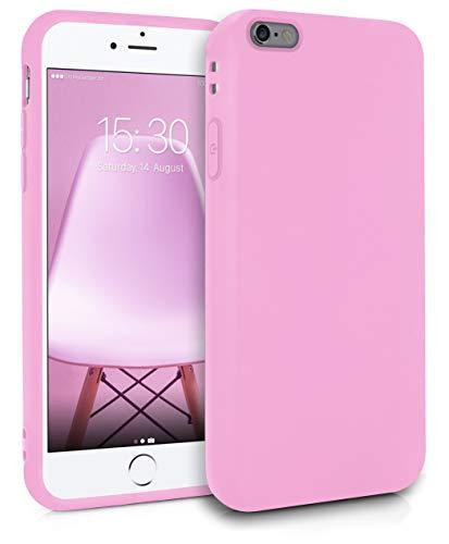 MyGadget Coque Silicone pour Apple iPhone 6 Plus / 6s Plus TPU Case - Housse Protection Bumper Étui Flexible Anti Choc et Rayures - Mauve Rose