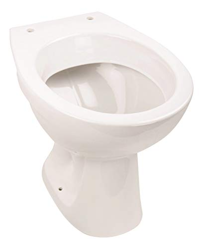 Calmwaters® - Universal - Stand-WC mit waagerechtem Abgang als Tiefspüler in Weiß - 07AB2318