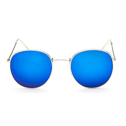 Nuevo diseñador de la marca Vintage Oval Gafas de sol Mujeres Retro Lente transparente Eyewear Redondo Gafas de sol Redonda para mujeres solar para mujeres pequeñas Hombres de protección UV baratos