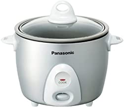 Panasonic Rice Cooker & Multi-Cooker SR-G06FGL, 3-Cup (Uncooked) with One-Step..